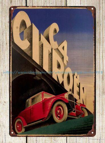 1928 metal tin sign Details about  /garden reproductions Citroen C4