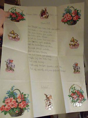 Papier & Dokumente Klein Schwerin Waren Des TäGlichen Bedarfs Freundlich Schöner Schmuckbrief Mit 10 Oblaten Glanzbilder Ostern 1930 Fam Büro, Papier & Schreiben
