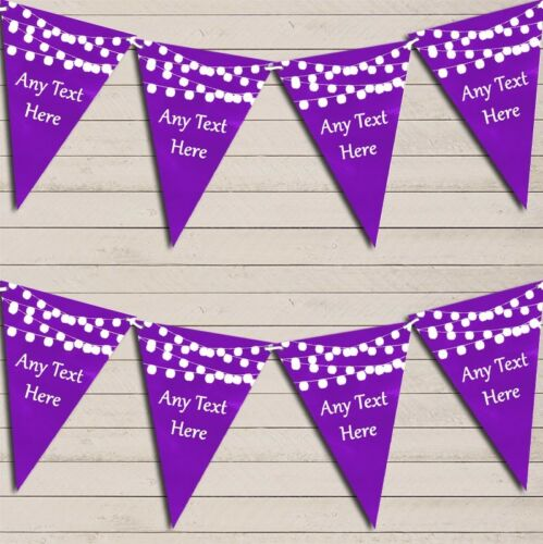 Purple Watercolour Lights Wedding Day Married Bunting Garland Flag Banner