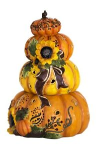 Blue-Sky-E9-Home-Decor-Harvest-Pumpkins-Ceramic-Stack-Candle-House-19-25in-18154