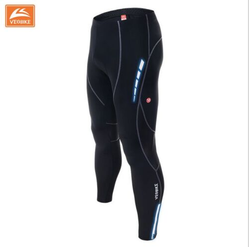 Mens Cycling Road Bike Gel Padded Tights Padded Legging Trousers Long Pants
