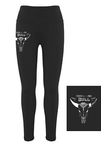 HEELS-DOWN-CLOTHING-EQUESTRIAN-PERFORMANCE-TIGHTS-034-TAKE-NO-BULL-034-PRINT