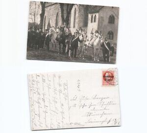 c1124-Fotoansichtskarte-Prozession-Georgiritt-Traunstein-Nach-Muenchen