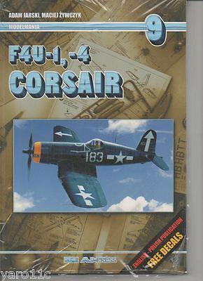Modelmania No  9 - F4U1, -4 CORSAIR  -AJ PRESS English! FREE Decals!