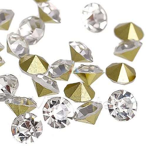Clear Crystal Glass Rhinestones Point Back SS16 4mm Nail Art DIY Crafts Decor