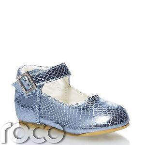 740a3e390 La imagen se está cargando Ninas-Zapatos-azules-Ninas-Zapatos -Tira-en-Tobillo-