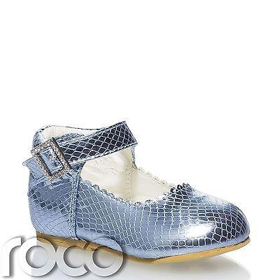 Utile Baby Bambina Blu Scarpe Bambine Caviglia Cinturino Scarpe, Scarpe Per Bambini, Ragazze Scarpe-