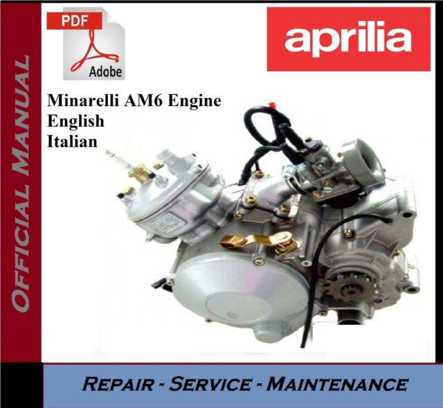 Genuine Aprilia Am6 Workshop Manual Ap8140240 For Sale Ebay