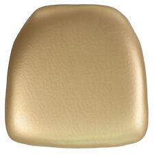 Hard Gold Vinyl Chiavari Chair Seat Cushion For Resin Chiavari Chairs