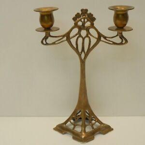 Candlestick-Art-Deco-Style-Art-Nouveau-Style-Bronze