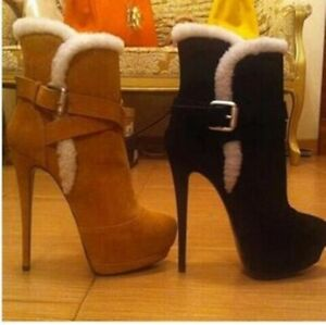 Women's Ankle Boots Fur Lined High
