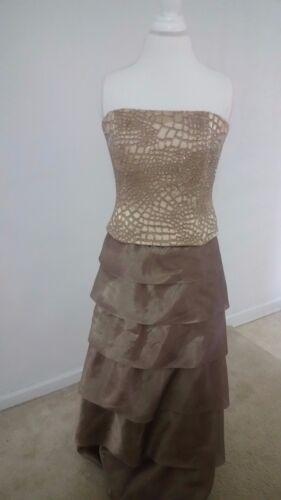 12 maat Jovani Dolce jurk gouden UGzMVqpS