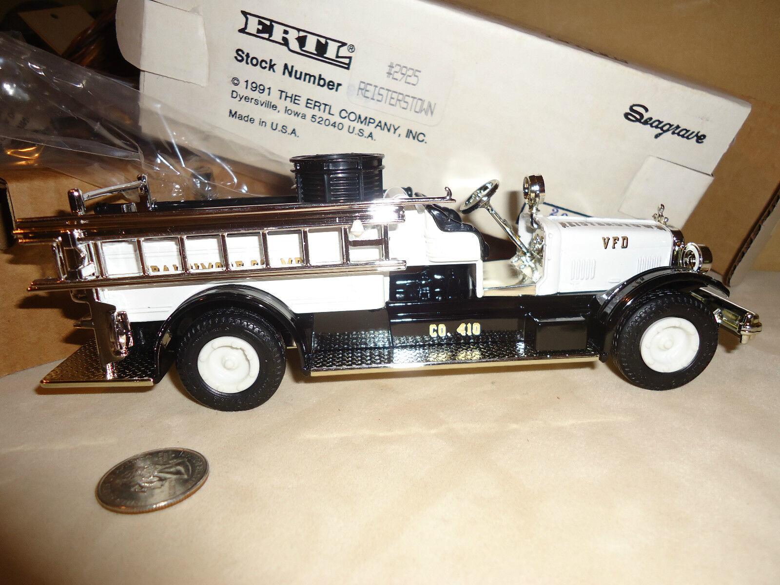 BALTIMORE REISTERTOWN, MD V.F.D.  1 1926 SEAGRAVE FIRE TRUCK ERLT STOCK  2925