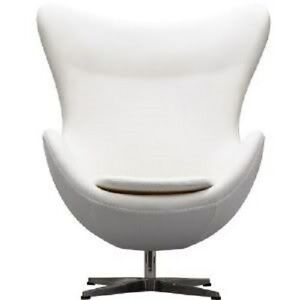 Arne-Jacobsen-style-Egg-Chair-in-white-PU-leather-3008