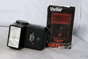 used-Vivitar-550FD-Auto-Thyristor-Nikon-dedicated-with-instruction-manual