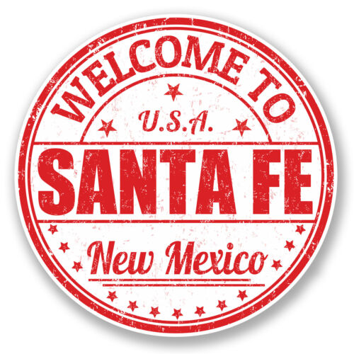 2 x 10cm Santa Fe New Mexico USA Vinyl Sticker Travel Luggage Tag Laptop #6001