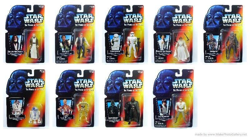 Star Wars POTF2 Carded Set MOMC 1995 Case Fresh