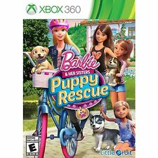 Barbie and Her Sisters: Puppy Rescue [Xbox 360, NTSC, Cute Puppies Mattel] NEW