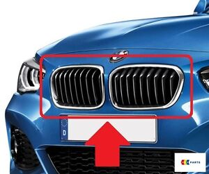 BMW-1-F20-F21-LCI-Nuevo-Genuino-Nuevo-Frente-M-Sport-superior-rinon-rejillas-Par-Set