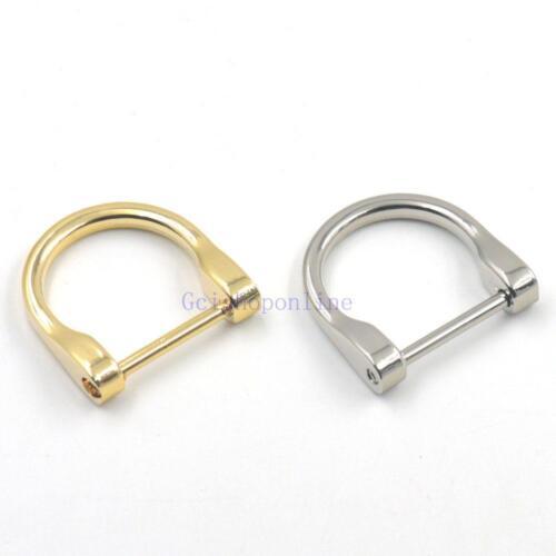 "Fashion Detachable 1/"" 25mm Dee Ring Screw Webbing Bag Buckles DIY D Ring Welded"