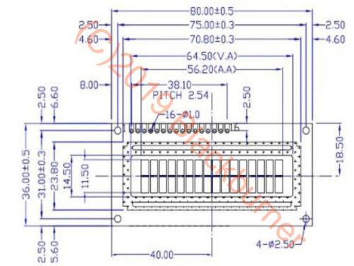 Lcd1602 Display 16x2 Bleu Serial Interface DETAILLE i2c