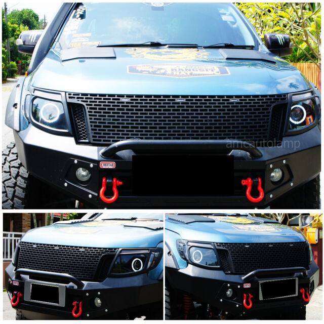 11 12 13 14 Fit  Ranger T6 Raptor Black Grille Xlt Px Ute Wildtrak Black Led