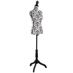 TecTake 402566 77 cm x 38 cm Mannequin de Couture - Blanc
