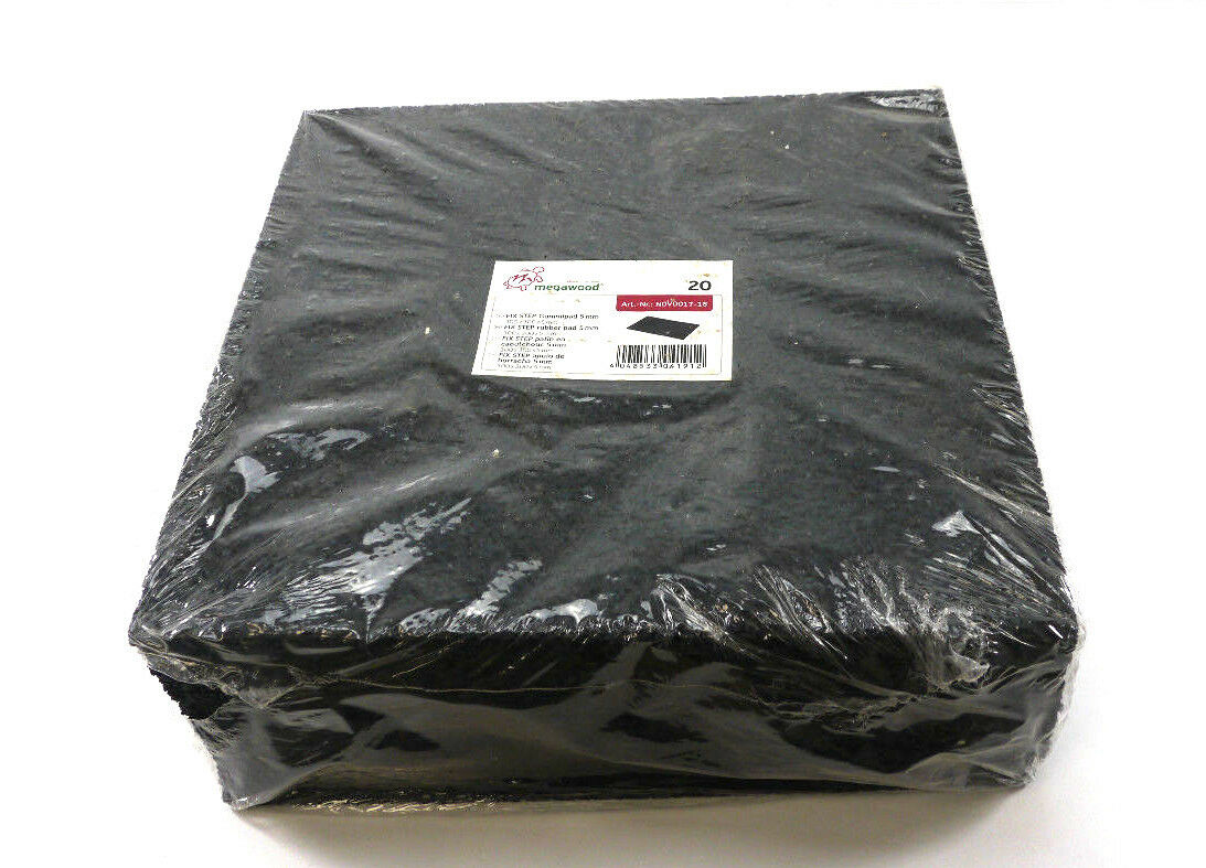 Paso de solución de x Megawood 20 Gummipad 5 mm   300X300X5MM   Art.No. Terrazas de NOV0017-18