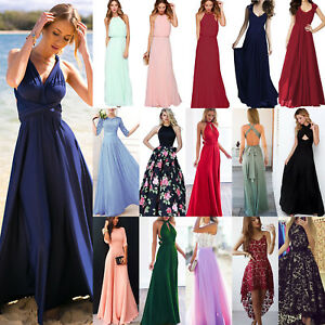 Women-039-s-Bridesmaid-Wedding-Formal-Long-Maxi-Dress-Cocktail-Party-Ball-Gown-Prom