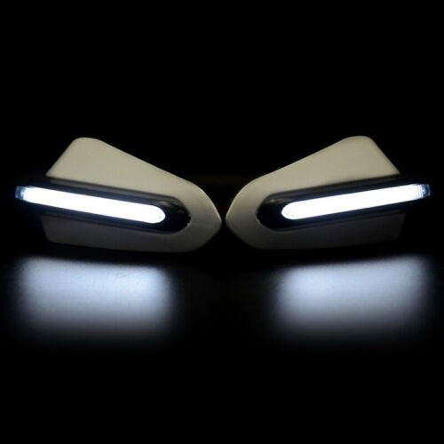 Motorcycle Fall-proof Hand Guards Windshield with LED Light Warning Protection