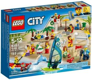 LEGO-City-People-Pack-Fun-at-the-Beach-60153-Town-Minifigures-Brand-New