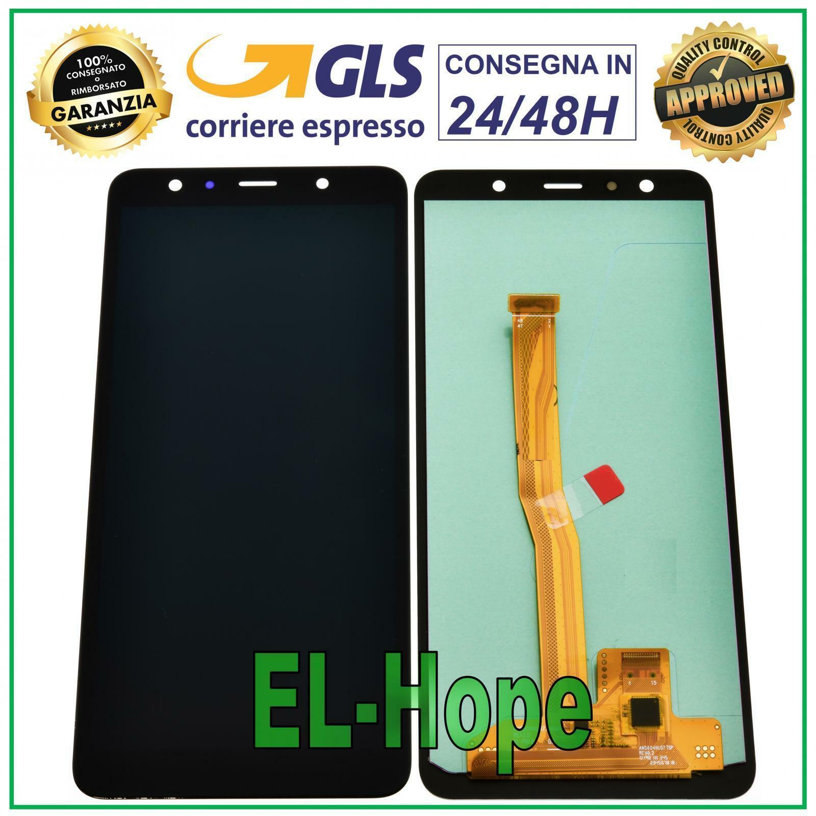 Samsung Galaxy: DISPLAY LCD PER SAMSUNG GALAXY A7 2018 A750F SM-A750F TOUCH SCREEN VETRO NERO
