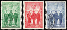 Australia Scott 184-186 (1940) Used/Mint H VF, CV $16.85 B