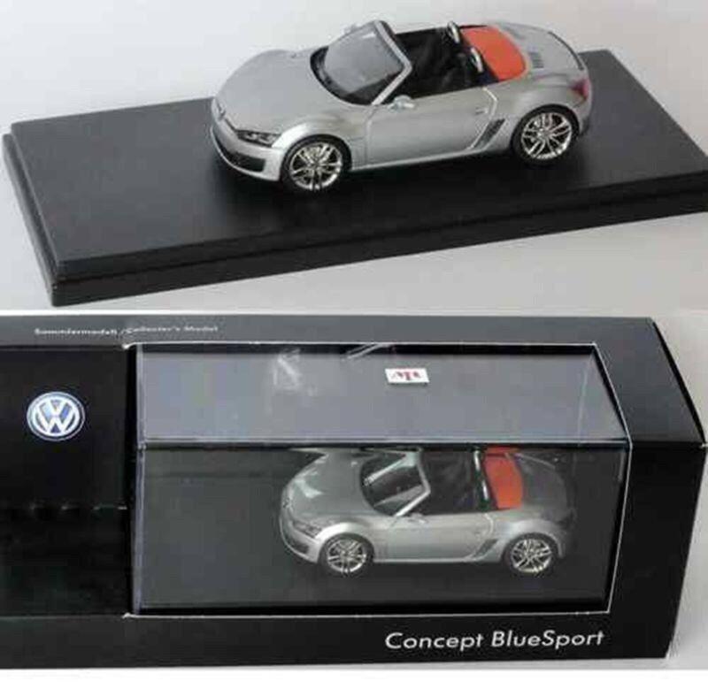 Très rare VW Concept Detriot 09 bleuSport argent 1 43 M.R modèles (concessionnaire modèle)