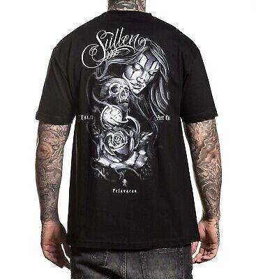SULLEN KIRT SILVER REAPER TATTOO SKULL ARTIST BLACK GREY T SHIRT S-3XL UK