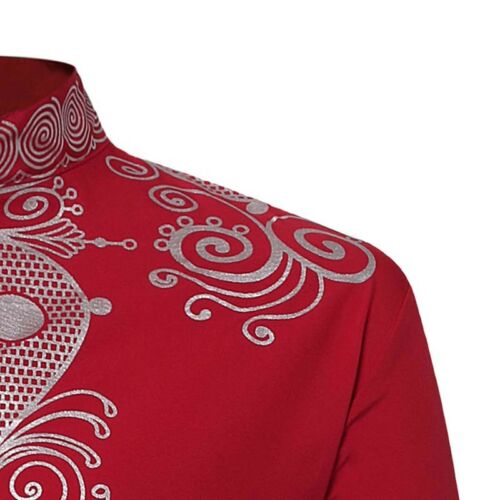 African Dashiki Mens Casual Print Tribal Shirt Top Blouse Clothing Shirts