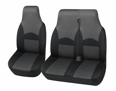 FORD TRANSIT MK7 2007 ON DELUXE GREY//BLACK VAN SEAT COVERS SINGLE DOUBLE 2+1