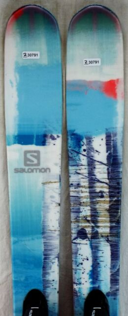 13 14 Salomon Q 90 Used Men's Demo Skis wBindings Size 177cm #230772