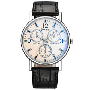 Military-Leather-Stainless-Steel-Quartz-Analog-Army-Men-039-s-Quartz-Wrist-Watches