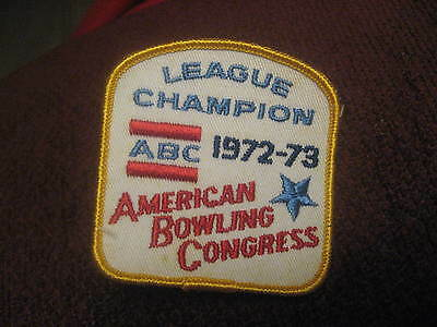 ABC American Bowling Congress 1972 - 1973 USA Embroidered Bowler Jacket Patch