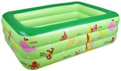 Swimming Pool Rectangular Inflatable Outdoor for Kids 210 cm X 150 cm x 60 cm