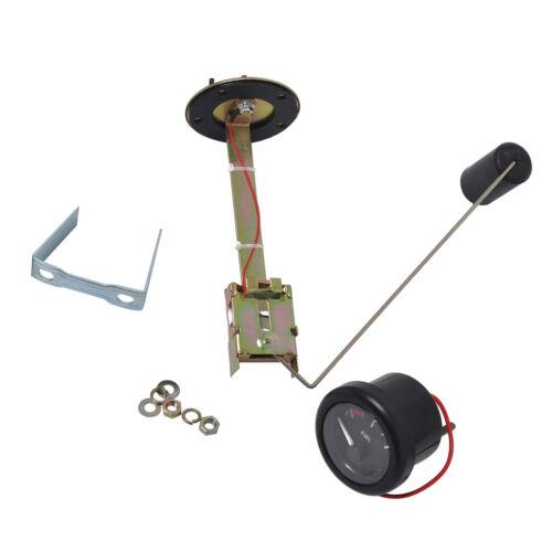 350mm Sensor 12V 52mm Boat Marine LED Backlight E-1//2-F Fuel Level Gauge
