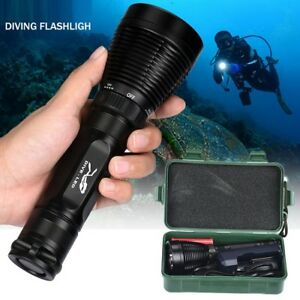 Torcia-LED-subacquea-per-immersioni-sub-diving-acqua-impermeabile-CREE-LED