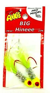 Chartreuse /& Red Eyes Walleye /& Panfish Jig Heads Fishing Jigs Arkie 1//8 oz