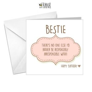 Outstanding Funny Cute Alternative Sarcastic Birthday Card Best Friend Personalised Birthday Cards Veneteletsinfo