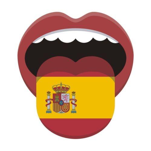 Espagnol flagspain espagnol Autocollant Drapeau National langue étiquette en vinyle graphique autocollant