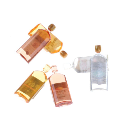 1:12 Dollhouse Home Decor 6PCS Doll House Miniature Accessories Bottles HI