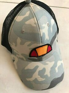a25ef91b Details about ELLESSE MASSI TRUCKER BASEBALL CAP - CAMOUFLAGE & BLACK - ONE  SIZE **NEW**