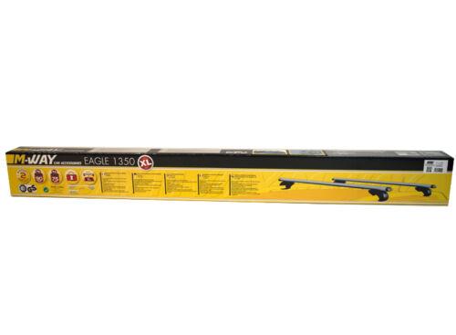 M-way 135cm de bloqueo de ALUMINIO Baca Ferrocarril Bares Para Peugeot Partner Aire 2001 />