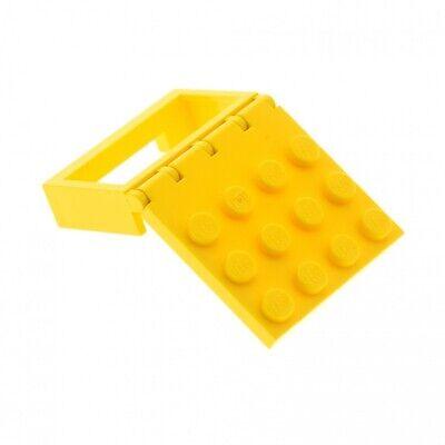 1x Lego Construction Plate Yellow 4x4 Flap Hinge Car Roof 1x4x2 4214 4213